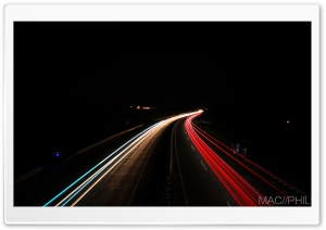 Highway Lights HD Wide Wallpaper for 4K UHD Widescreen desktop & smartphone