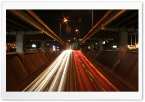 Highways At Night HD Wide Wallpaper for Widescreen