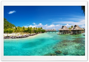 Hilton Bora Bora Nui Resort Ultra HD Wallpaper for 4K UHD Widescreen desktop, tablet & smartphone