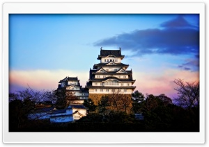 Himeji Castle At Sunrise HD Wide Wallpaper for 4K UHD Widescreen desktop & smartphone