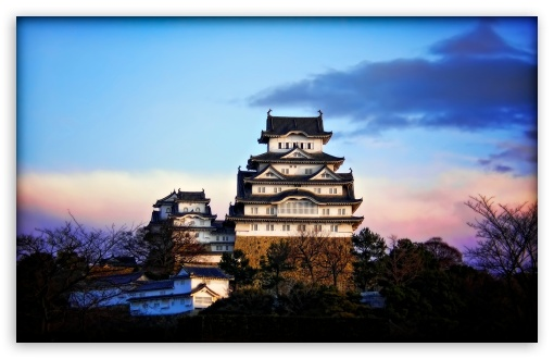 Himeji Castle At Sunrise HD wallpaper for Wide 16:10 5:3 Widescreen WHXGA WQXGA WUXGA WXGA WGA ; HD 16:9 High Definition WQHD QWXGA 1080p 900p 720p QHD nHD ; Mobile 5:3 16:9 - WGA WQHD QWXGA 1080p 900p 720p QHD nHD ;