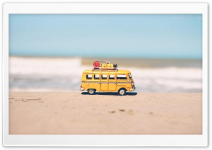 Hippie VW Bus Toy Ultra HD Wallpaper for 4K UHD Widescreen desktop, tablet & smartphone