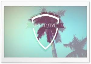 Hipster Style Badge Ultra HD Wallpaper for 4K UHD Widescreen desktop, tablet & smartphone