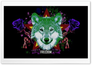 Hipster Wolf Ultra HD Wallpaper for 4K UHD Widescreen desktop, tablet & smartphone