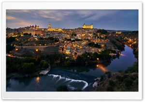 Historic City of Toledo, Spain HD Wide Wallpaper for 4K UHD Widescreen desktop & smartphone