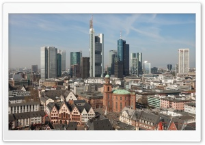 Historical city centre of Frankfurt, Germany HD Wide Wallpaper for 4K UHD Widescreen desktop & smartphone