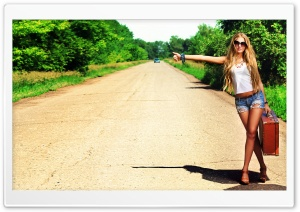 Hitchhiking HD Wide Wallpaper for Widescreen