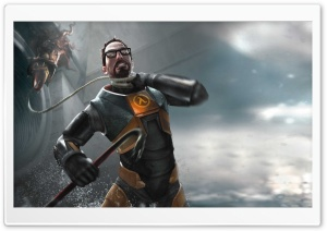 HL2 Gordon Freeman HD Wide Wallpaper for 4K UHD Widescreen desktop & smartphone
