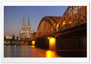 Hohenzollern Bridge HD Wide Wallpaper for 4K UHD Widescreen desktop & smartphone