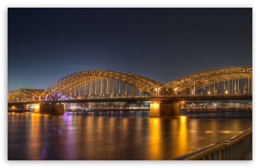 Hohenzollern Bridge at Dusk HD wallpaper for Wide 16:10 5:3 Widescreen WHXGA WQXGA WUXGA WXGA WGA ; HD 16:9 High Definition WQHD QWXGA 1080p 900p 720p QHD nHD ; Standard 4:3 5:4 3:2 Fullscreen UXGA XGA SVGA QSXGA SXGA DVGA HVGA HQVGA devices ( Apple PowerBook G4 iPhone 4 3G 3GS iPod Touch ) ; Tablet 1:1 ; iPad 1/2/Mini ; Mobile 4:3 5:3 3:2 16:9 5:4 - UXGA XGA SVGA WGA DVGA HVGA HQVGA devices ( Apple PowerBook G4 iPhone 4 3G 3GS iPod Touch ) WQHD QWXGA 1080p 900p 720p QHD nHD QSXGA SXGA ;