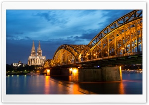 Hohenzollern Bridge, Rhine river, Cologne city, Cologne HD Wide Wallpaper for Widescreen