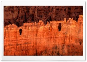 Holes in the wall, Bryce Canyon, Utah, United States HD Wide Wallpaper for Widescreen