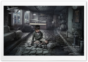Homeless at Home - Childboy Ultra HD Wallpaper for 4K UHD Widescreen desktop, tablet & smartphone