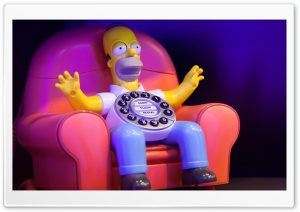 Homer Calls Home HD Wide Wallpaper for Widescreen