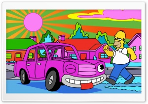 Homer Simpsons Stoned HD Wide Wallpaper for Widescreen