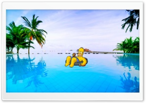Homer Summer HD Wide Wallpaper for Widescreen