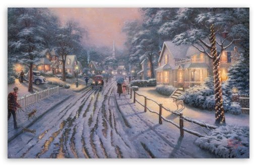 Hometown Christmas Memories by Thomas Kinkade HD wallpaper for Standard 4:3 5:4 Fullscreen UXGA XGA SVGA QSXGA SXGA ; Wide 16:10 5:3 Widescreen WHXGA WQXGA WUXGA WXGA WGA ; HD 16:9 High Definition WQHD QWXGA 1080p 900p 720p QHD nHD ; Other 3:2 DVGA HVGA HQVGA devices ( Apple PowerBook G4 iPhone 4 3G 3GS iPod Touch ) ; Mobile VGA WVGA iPhone iPad PSP Phone - VGA QVGA Smartphone ( PocketPC GPS iPod Zune BlackBerry HTC Samsung LG Nokia Eten Asus ) WVGA WQVGA Smartphone ( HTC Samsung Sony Ericsson LG Vertu MIO ) HVGA Smartphone ( Apple iPhone iPod BlackBerry HTC Samsung Nokia ) Sony PSP Zune HD Zen ; Dual 5:4 QSXGA SXGA ;