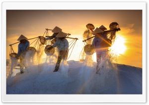 Hon Khoi Salt Fields, Nha Trang Attractions, Vietnam HD Wide Wallpaper for 4K UHD Widescreen desktop & smartphone