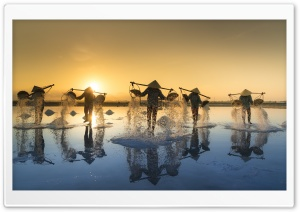 Hon Khoi Salt Fields, Nha...