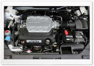 Honda 3.5 i VTEC VCM Engine HD Wide Wallpaper for Widescreen