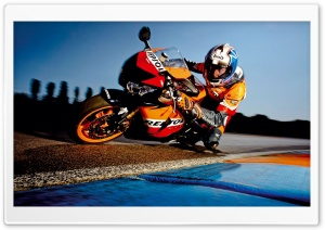 Honda Motorcycle Racing HD Wide Wallpaper for Widescreen