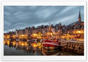 Honfleur Port, France, Europe HD Wide Wallpaper for Widescreen