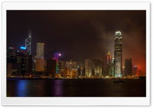 Hong Kong At Night HD Wide Wallpaper for Widescreen