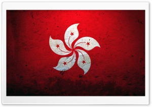 Hong Kong China Flag HD Wide Wallpaper for Widescreen