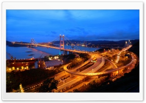 Hong Kong Highways Evening HD Wide Wallpaper for Widescreen