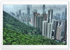 Hong Kong Hills HD Wide Wallpaper for Widescreen
