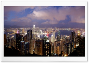 Hong Kong Night View HD Wide Wallpaper for Widescreen
