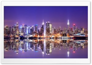 Hong Kong Reflection HD Wide Wallpaper for Widescreen