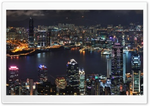 Hong Kong Skyline Ultra HD Wallpaper for 4K UHD Widescreen desktop, tablet & smartphone