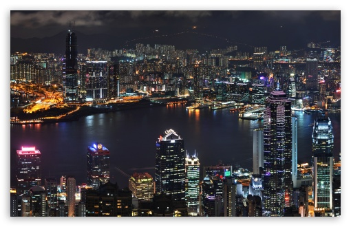 Hong Kong Skyline HD wallpaper for Wide 16:10 5:3 Widescreen WHXGA WQXGA WUXGA WXGA WGA ; HD 16:9 High Definition WQHD QWXGA 1080p 900p 720p QHD nHD ; Mobile 5:3 16:9 - WGA WQHD QWXGA 1080p 900p 720p QHD nHD ;