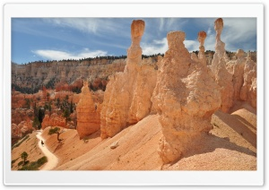 Hoodoos In Bryce Canyon National Park, Utah HD Wide Wallpaper for 4K UHD Widescreen desktop & smartphone
