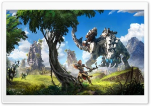 Horizon Zero Dawn 2017 Video Game HD Wide Wallpaper for Widescreen