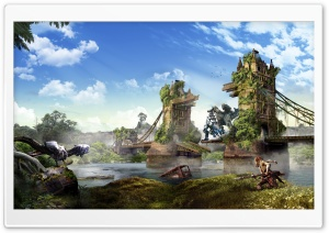 Horizon Zero Dawn, a post-apocalyptic Land ruled by Machines HD Wide Wallpaper for Widescreen