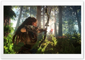 Horizon Zero Dawn Aloy Hunting HD Wide Wallpaper for Widescreen