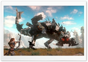 Horizon Zero Dawn Thunderjaw Ultra HD Wallpaper for 4K UHD Widescreen desktop, tablet & smartphone