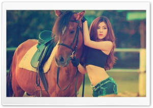 Horse and Girl Ultra HD Wallpaper for 4K UHD Widescreen desktop, tablet & smartphone