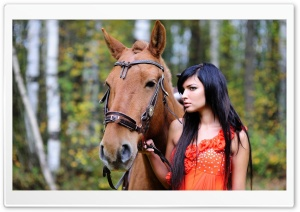 Horse and Woman HD Wide Wallpaper for Widescreen