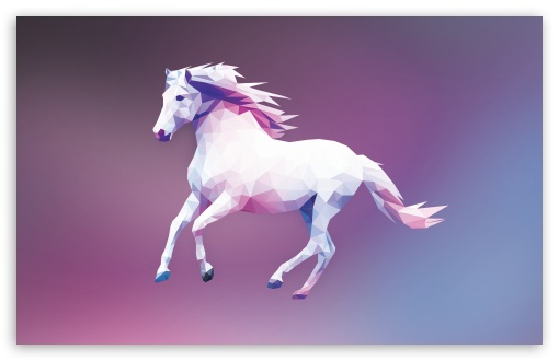 Download Horse Polygon Design HD Wallpaper