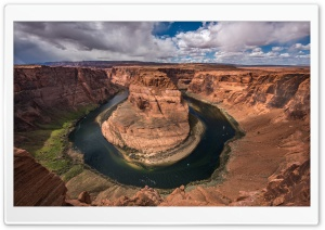 Horseshoe Bend Scenic Overlook, Arizona HD Wide Wallpaper for 4K UHD Widescreen desktop & smartphone