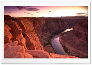 Horseshoe Bend Sunset HD Wide Wallpaper for 4K UHD Widescreen desktop & smartphone