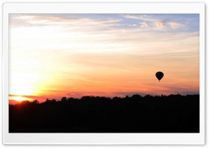 Hot Air Balloon At Sunset HD Wide Wallpaper for Widescreen