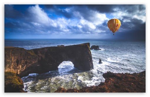 Hot Air Balloon, Dyrholaey Arch, Iceland ❤ 4K UHD Wallpaper for Wide 16:10 5:3 Widescreen WHXGA WQXGA WUXGA WXGA WGA ; 4K UHD 16:9 Ultra High Definition 2160p 1440p 1080p 900p 720p ; UHD 16:9 2160p 1440p 1080p 900p 720p ; Standard 4:3 5:4 3:2 Fullscreen UXGA XGA SVGA QSXGA SXGA DVGA HVGA HQVGA ( Apple PowerBook G4 iPhone 4 3G 3GS iPod Touch ) ; Smartphone 16:9 3:2 5:3 2160p 1440p 1080p 900p 720p DVGA HVGA HQVGA ( Apple PowerBook G4 iPhone 4 3G 3GS iPod Touch ) WGA ; Tablet 1:1 ; iPad 1/2/Mini ; Mobile 4:3 5:3 3:2 16:9 5:4 - UXGA XGA SVGA WGA DVGA HVGA HQVGA ( Apple PowerBook G4 iPhone 4 3G 3GS iPod Touch ) 2160p 1440p 1080p 900p 720p QSXGA SXGA ;