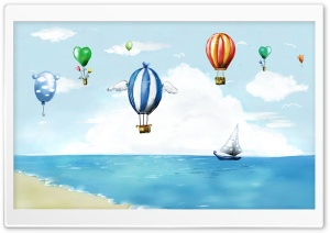 Hot Air Balloon Festival HD Wide Wallpaper for Widescreen