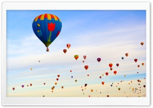 Hot Air Balloon Field HD Wide Wallpaper for Widescreen