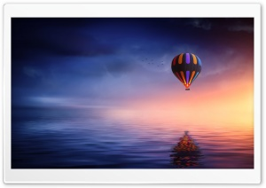 Hot Air Balloon Ride Fantasy Ultra HD Wallpaper for 4K UHD Widescreen desktop, tablet & smartphone
