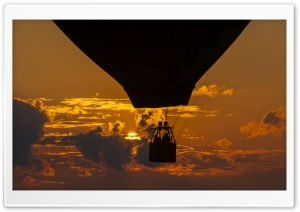 Hot Air Balloon Sunset HD Wide Wallpaper for Widescreen